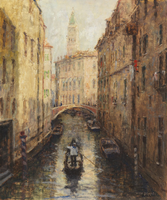 Otto Pippel - Canal in Venedig