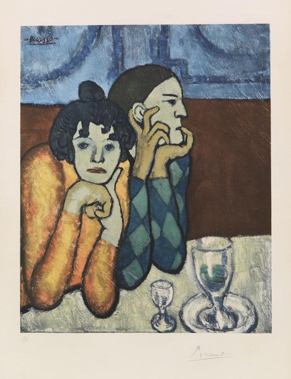 Pablo Picasso - L'Arlequin et sa Compagne