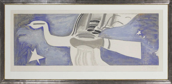 Georges Braque - Grand oiseau bleu - Frame image