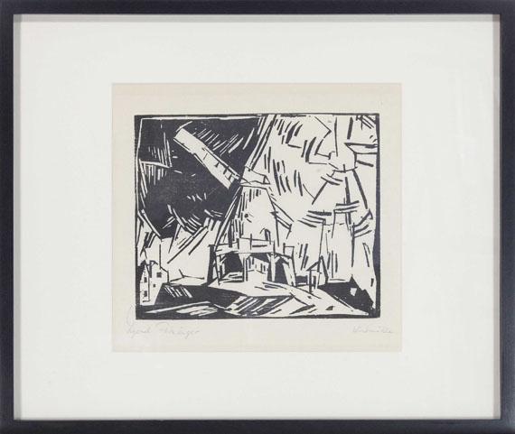 Lyonel Feininger - Windmühle - Rahmenbild