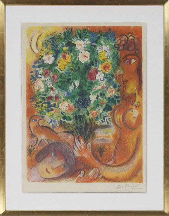 Marc Chagall - Frau mit Strauß (aus: Nizza und die Côte d'Azur) - Rahmenbild