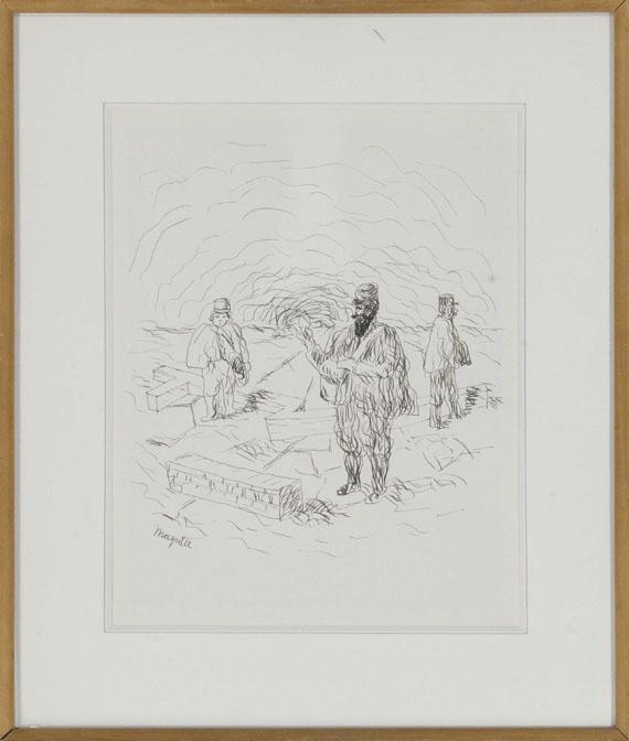 René Magritte - Trois Postillons - Frame image