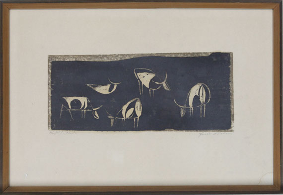 Ewald Mataré - Nächtliche Weide - Rahmenbild