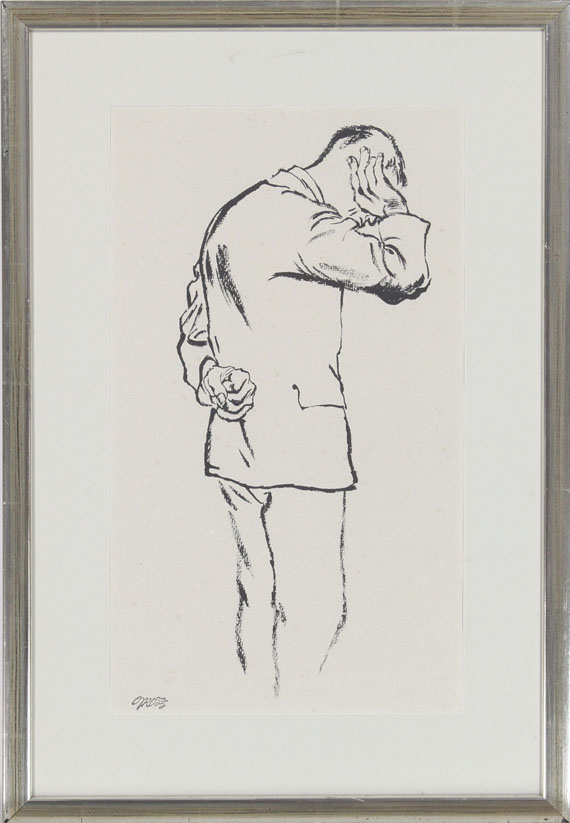 George Grosz - Arbeitsloser - Rahmenbild