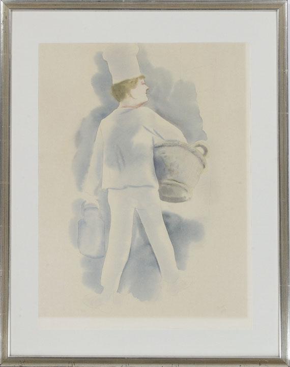 George Grosz - Bäckerjunge - Rahmenbild
