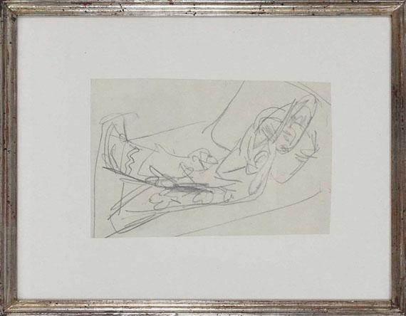 Ernst Ludwig Kirchner - Liegende (Skizze zu dem Gemälde: Olympia) - Frame image