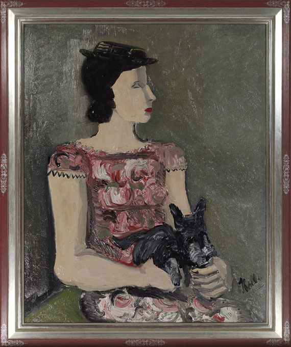 Helmut Kolle gen. vom Hügel - Portrait d´une jeune fille (Mme de Lombré) - Frame image