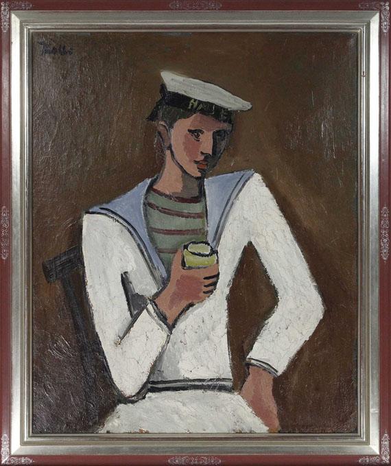 Helmut Kolle gen. vom Hügel - Jeune homme en tenue de marin - Rahmenbild