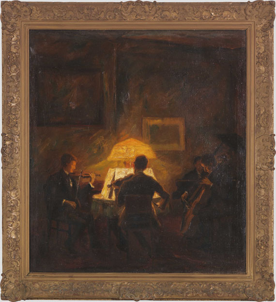 Otto Pippel - Musizierende Abendgesellschaft - Frame image