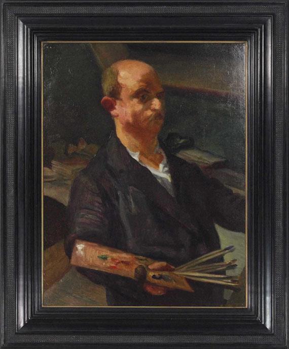 Ludwig Meidner - Selbstporträt an der Staffelei - Frame image