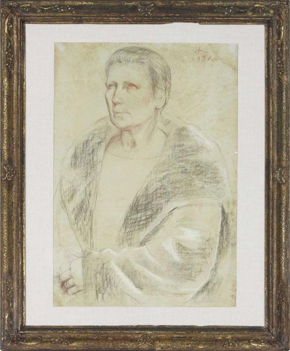 Otto Dix - Bildnis Frau Helene Erfurt mit Pelz - Frame image