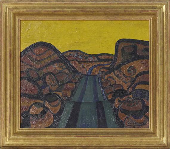 Josef Scharl - Bergstraße (Mountain Road) - Rahmenbild