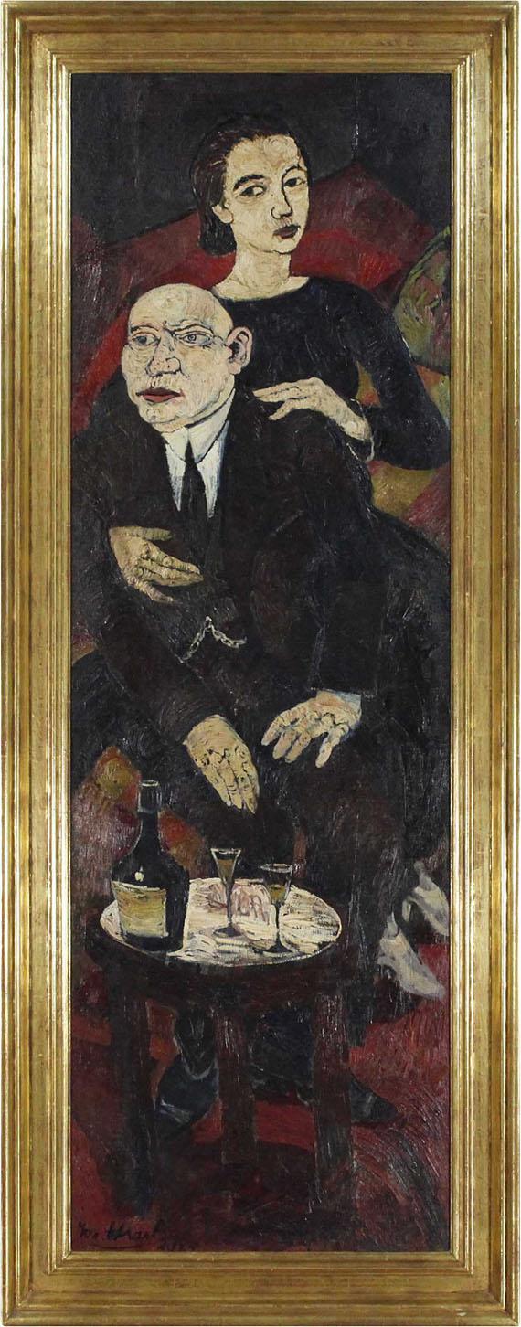 Josef Scharl - Der Abend - Rahmenbild