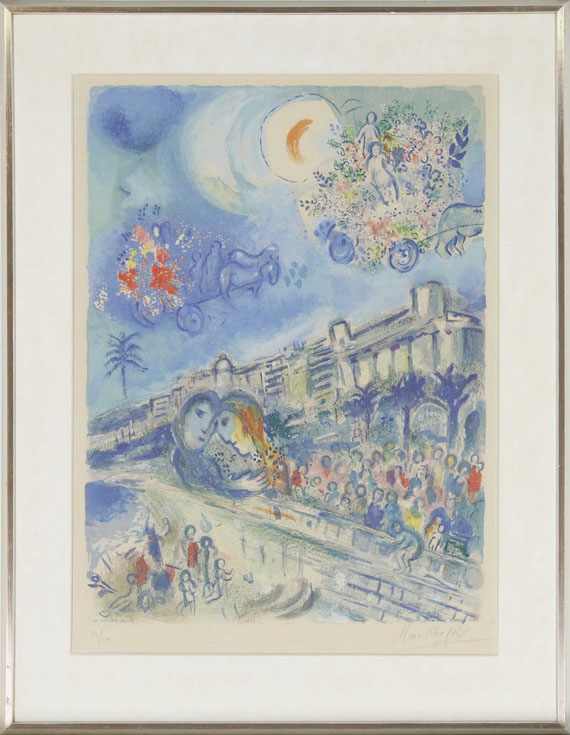 Marc Chagall - Bataille de fleurs - Rahmenbild