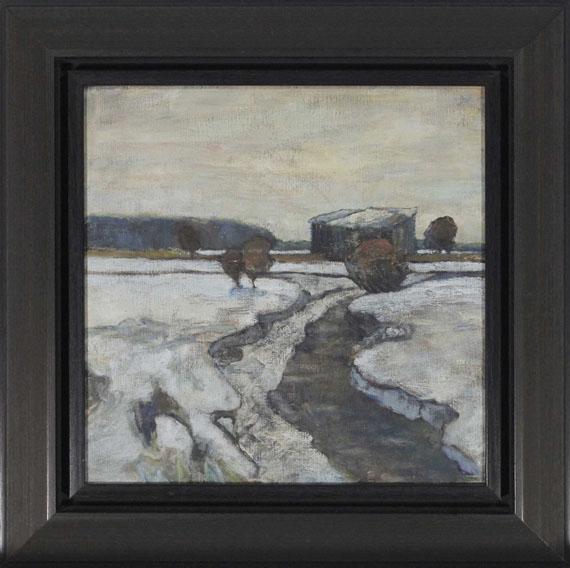 Adolf Hölzel - Dachauer Moorlandschaft im Winter - Frame image