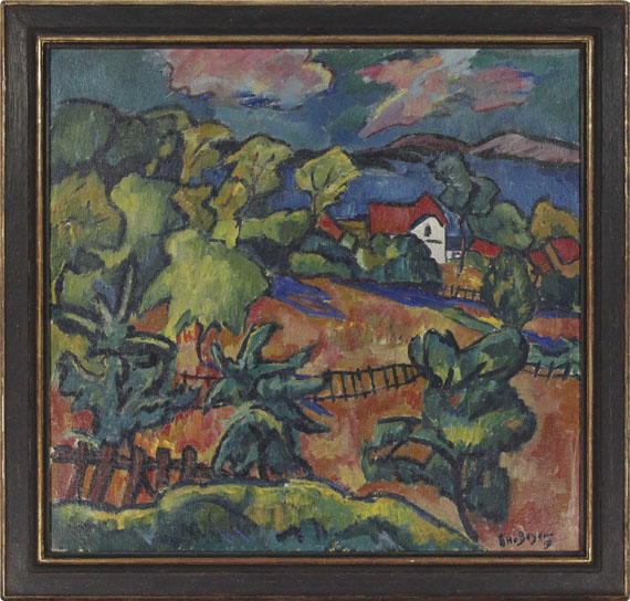 Otto Beyer - Landschaft bei Ferch am Schwielowsee - Rahmenbild