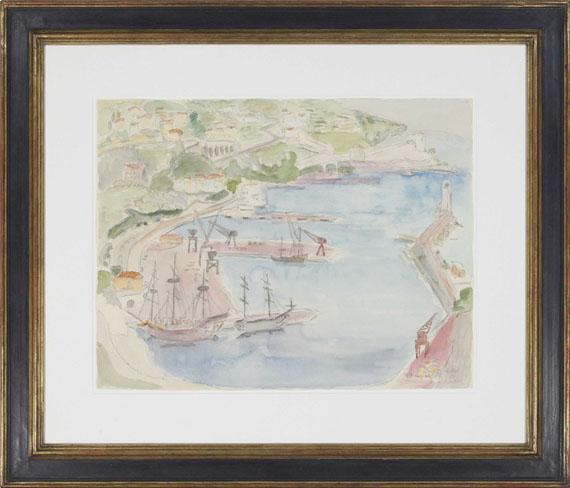Erich Heckel - Blick auf den Hafen von Nizza - Rahmenbild
