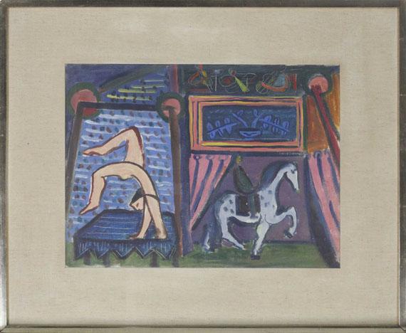 Werner Gilles - Der Zirkus - Rahmenbild