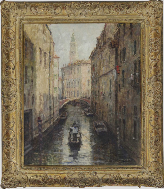 Otto Pippel - Canal in Venedig - Frame image