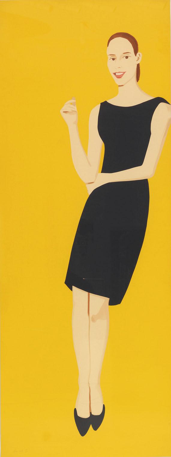 Alex Katz - Black Dress 5 (Ulla)