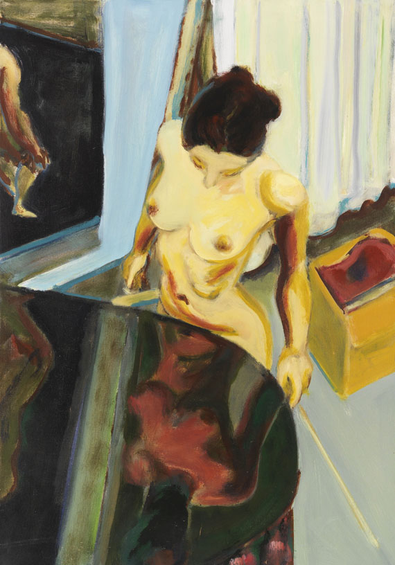 Norbert Tadeusz - Weiblicher Akt in Interieur