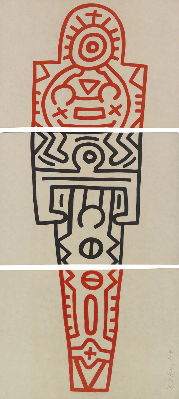 Keith Haring - Totem (3-teilig)