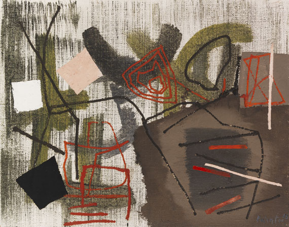 Fritz Winter - Rote Linien