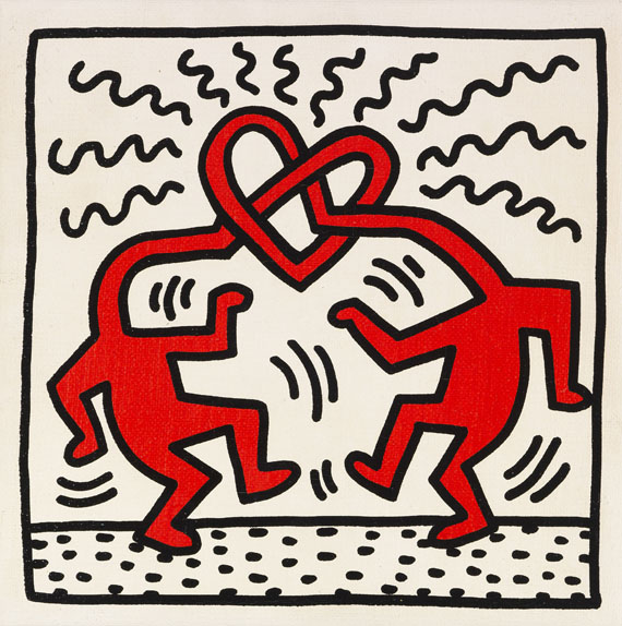 Keith Haring - Untitled (Love)