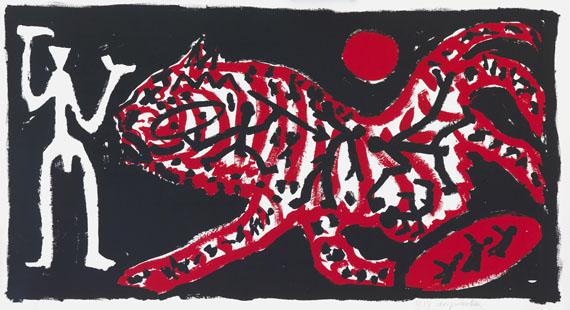 A. R. Penck (d.i. Ralf Winkler) - Tiger und Jäger