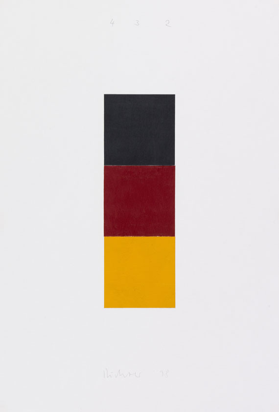 Gerhard Richter - Schwarz, Rot, Gold I, 1998