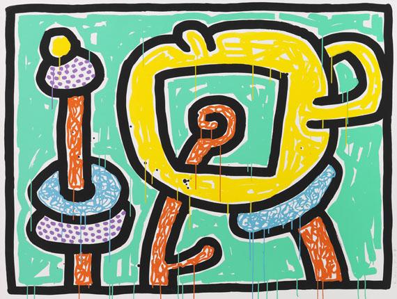 Keith Haring - Flowers III