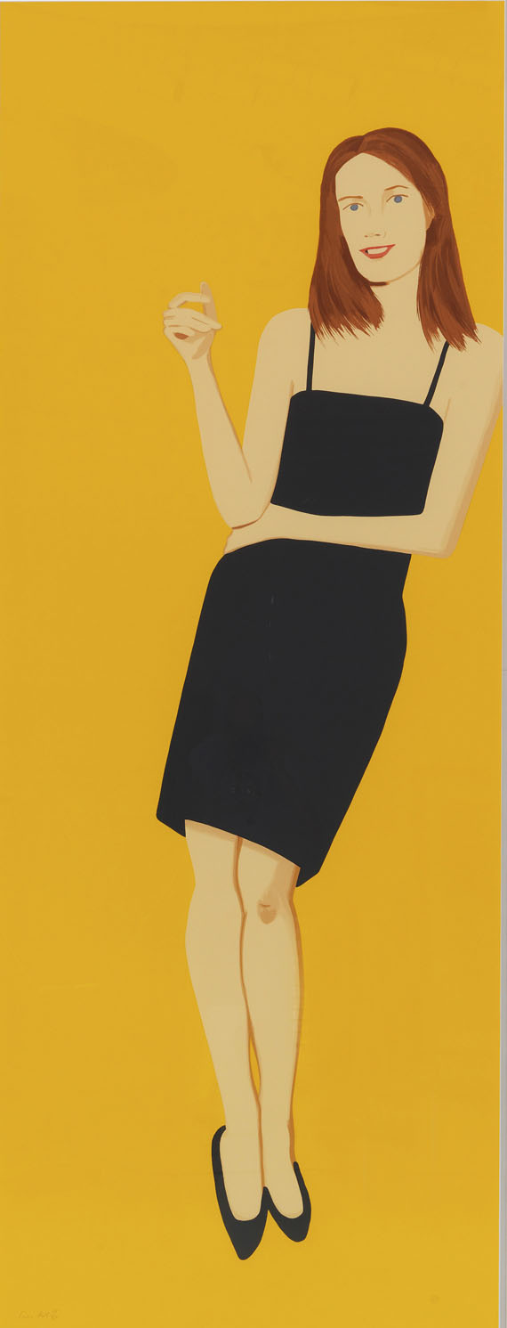 Alex Katz - Black Dress 4 (Sharon)