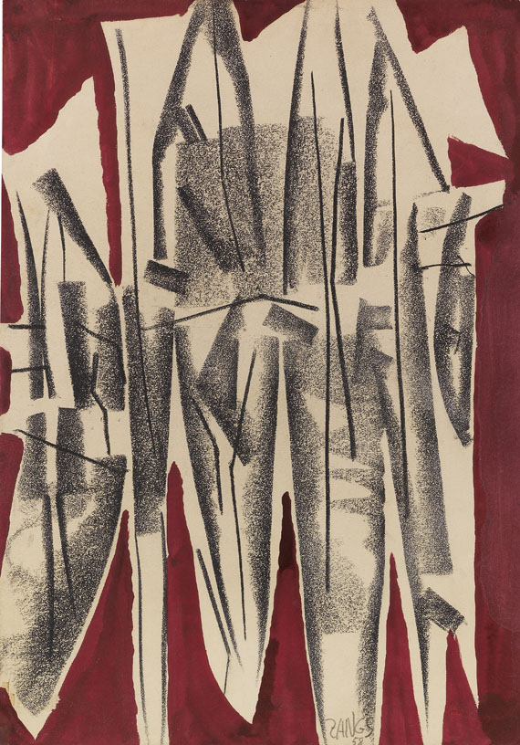 Herbert Zangs - PEB I (Kohle-Gemälde)