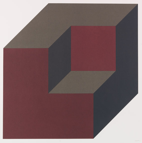 Sol LeWitt - Portfolio: Forms derived from a Cube (Colors Superimposed) -