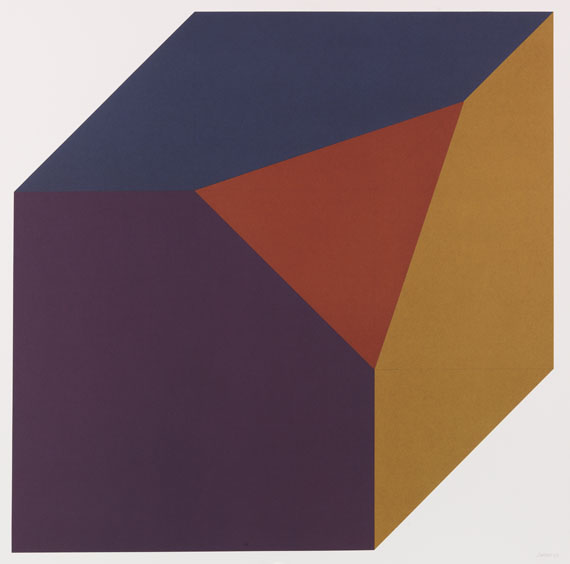 Sol LeWitt - Portfolio: Forms derived from a Cube (Colors Superimposed)