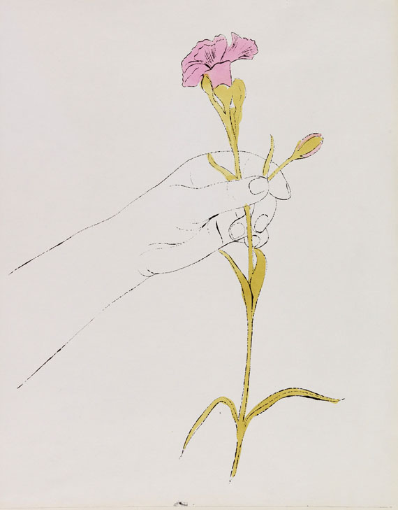 Andy Warhol - Hand and Flowers -