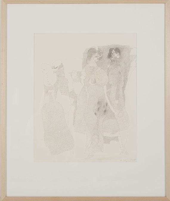 Horst Janssen - Gesellschaftsszene - Frame image