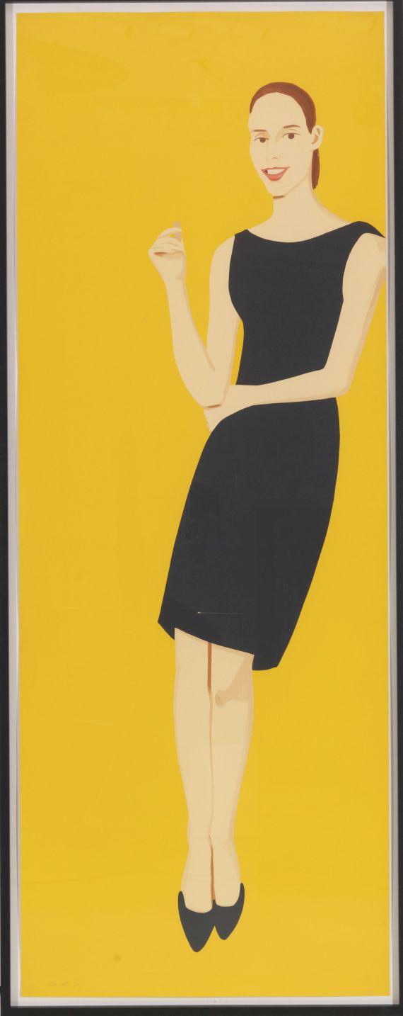 Alex Katz - Black Dress 5 (Ulla) - Frame image