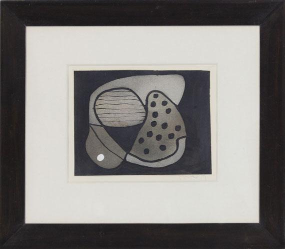 Fritz Winter - Graue Formen - Frame image