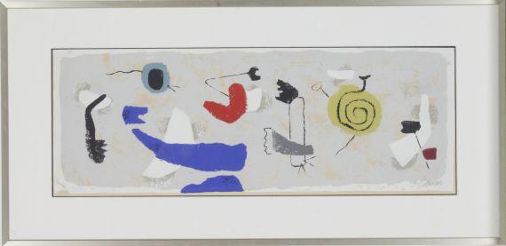 Willi Baumeister - Schwebend. Fries mit gelber Spirale - Frame image