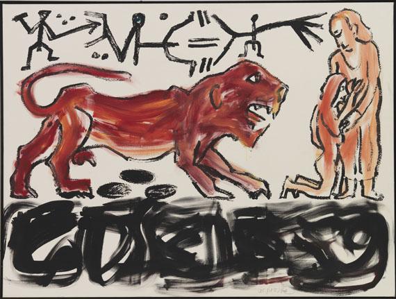 A. R. Penck (d.i. Ralf Winkler) - Colloseum - Frame image