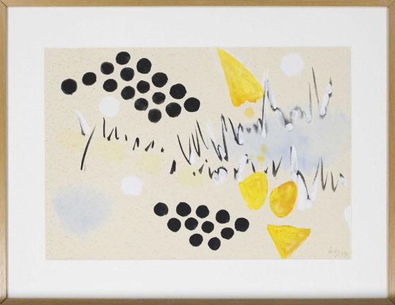 Ernst Wilhelm Nay - Komposition mit schwarzen Punkten - Frame image