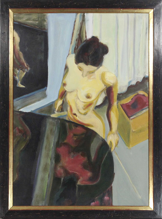 Norbert Tadeusz - Weiblicher Akt in Interieur - Frame image