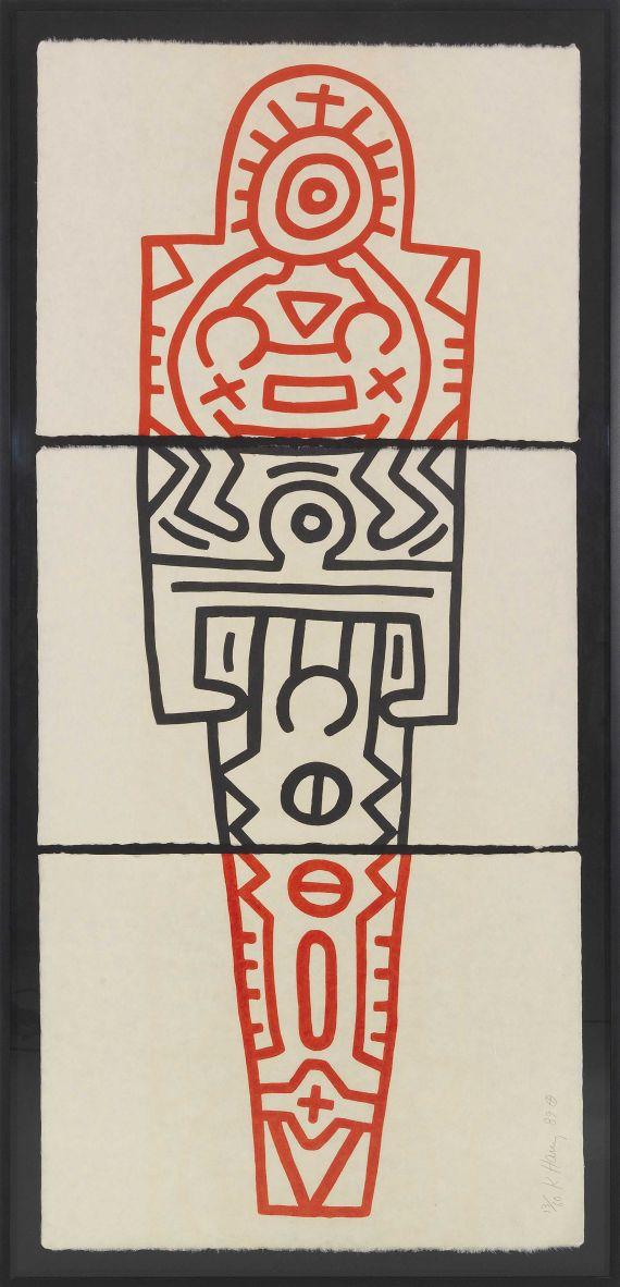 Keith Haring - Totem (3-teilig) - Frame image