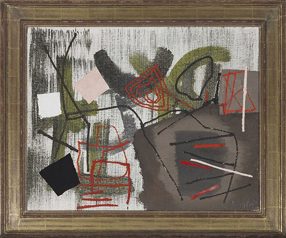 Fritz Winter - Rote Linien - Frame image