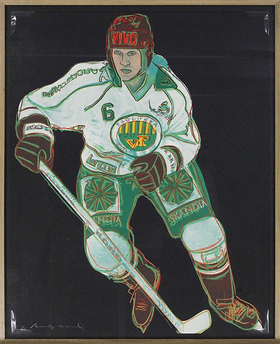 Andy Warhol - Frolunda Hockeyplayer - Frame image