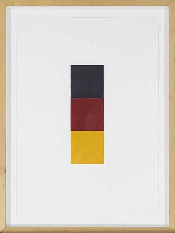 Gerhard Richter - Schwarz, Rot, Gold I, 1998 - Frame image