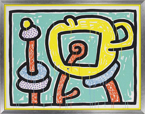 Keith Haring - Flowers III - Rahmenbild