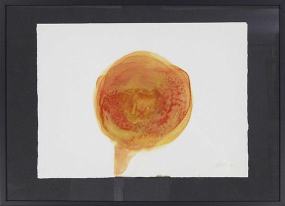 Otto Piene - Feuergouache - Frame image
