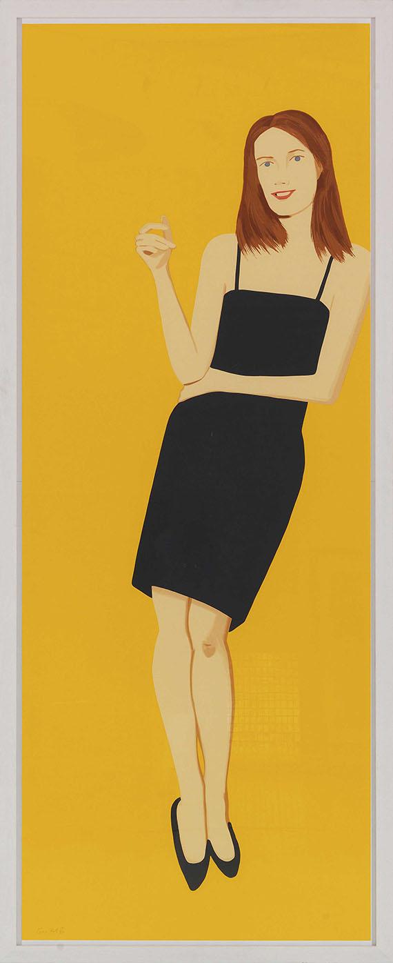 Alex Katz - Black Dress 4 (Sharon) - Frame image